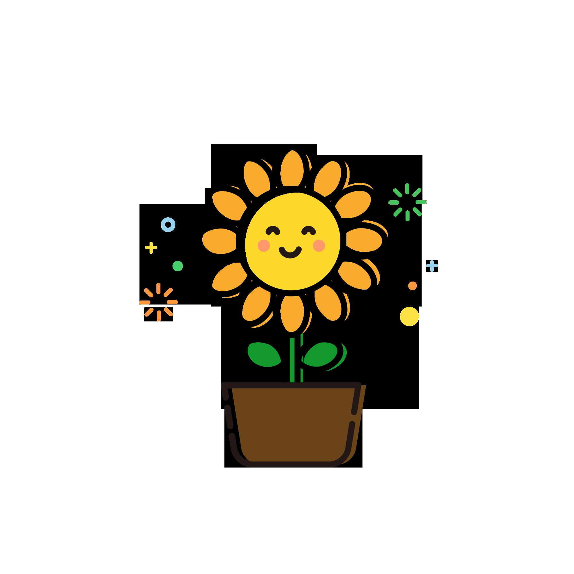 Pngtreembeplanticonpottedsunflower_4047321